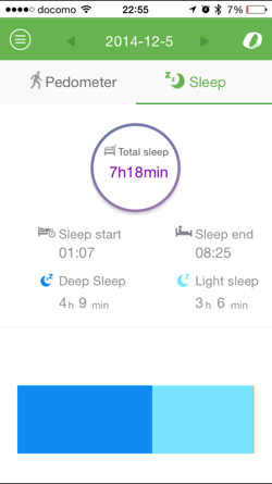 E-Band Sleep log