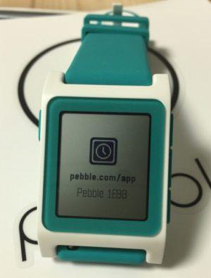 写真 pebble 2 起動画面