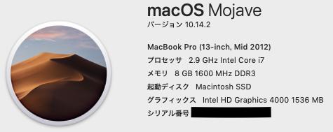 Macbook pro 2012 mid