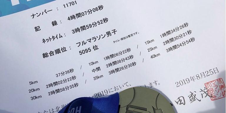 北海道旅行&北海道マラソン 2019/08/25 マラソン+反省会編