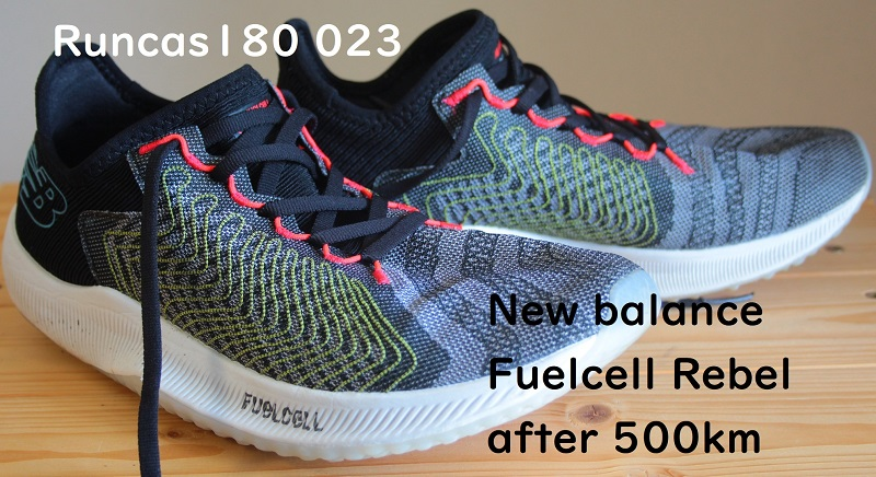 Runcas180 youtube #023 New Balance FuelCell Rebel after 500km