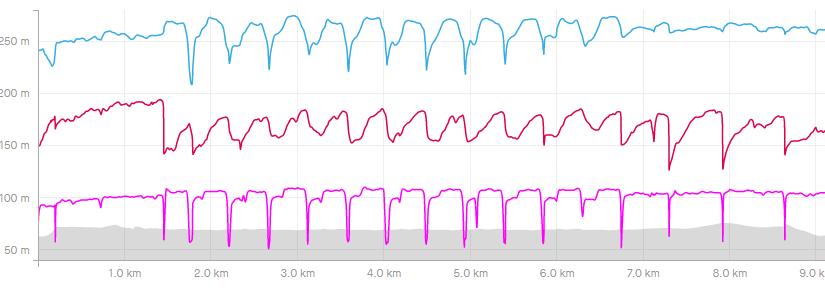 Runcas180 2020/11/16 インターバル的な何か 9.3km
